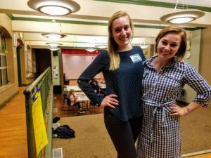 Learning Circles co-chairs Kimberly Baker (L) and Meredith O'Toole ® at the Charlestown Boys & Girls Club