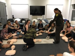 JL Boston Members receive CPR training from the Boston EMS at our headquarters.