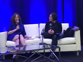 Portfolia founder, Trish Costello and Gotham Gal investor, Joanne Wilson, offer a fireside chat.