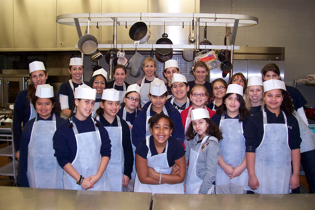 A group shot of Kids in the Kitchen participants