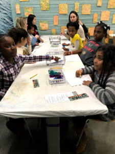 JL Boston Arts participants learn art techniques